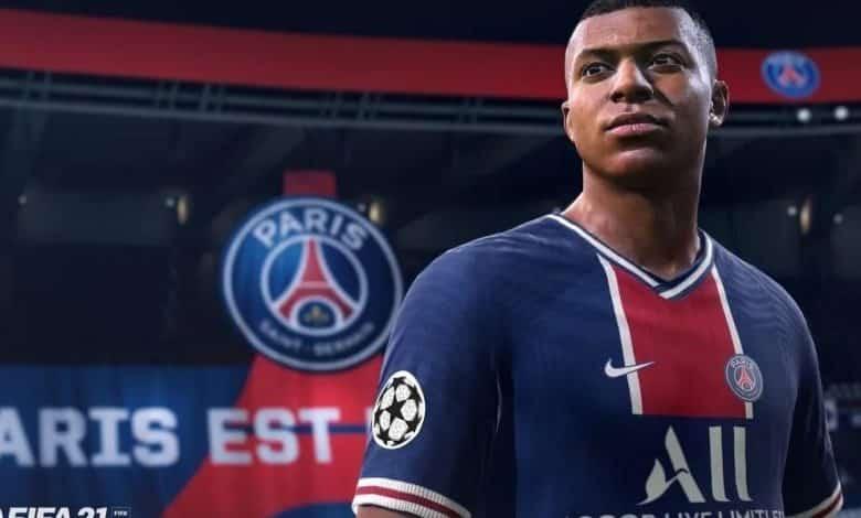 Mbappe dans le jeu Fifa 2021