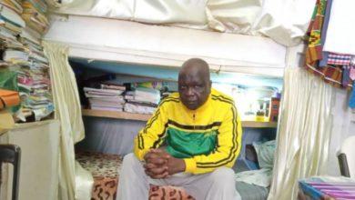 Amadou Vamoulké dans sa cellule