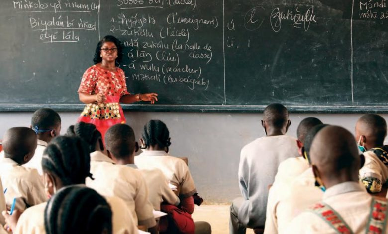 Une salle de classe au Cameorun