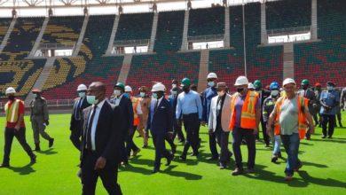 Visite du Stade d'Olembe