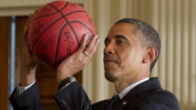 Barack Obama basketeur