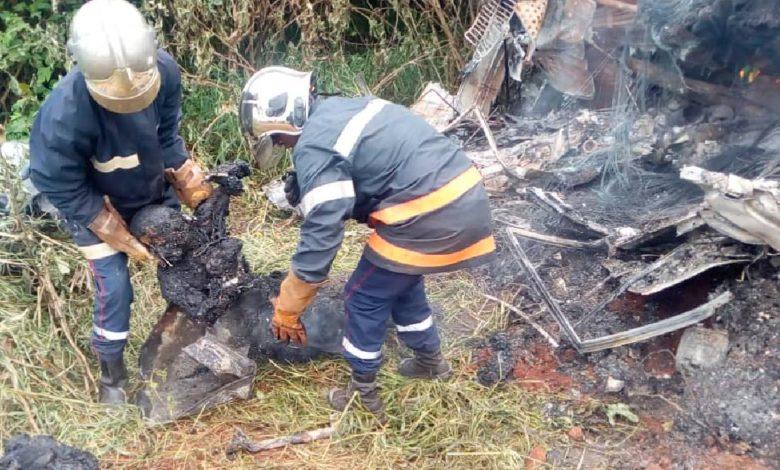 Un accident avec des personnes brulées