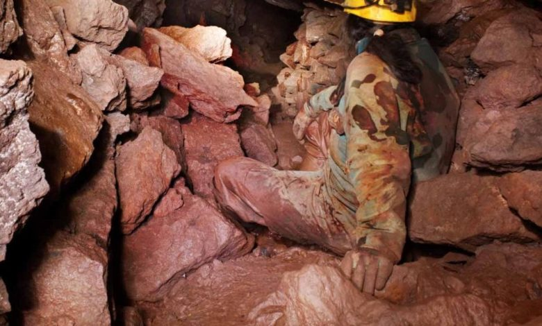 éboulement d'une mine